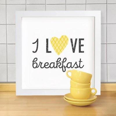 INGRIDESIGN i love breakfast print