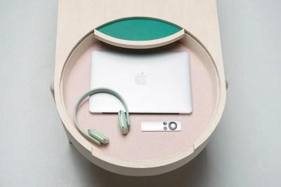 BIRK table open closeup design iselin lindmark dubland