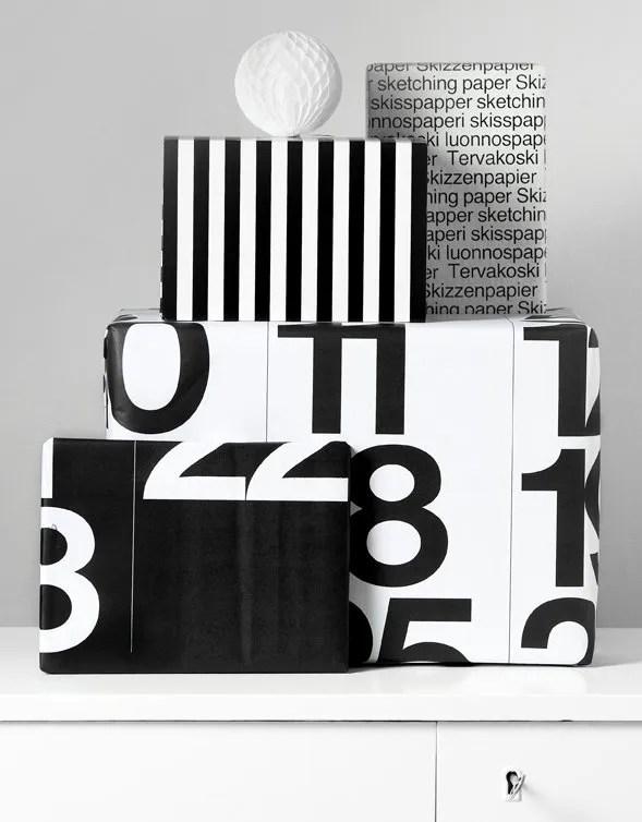 reuse calendar paper gift wrapping scandinavian minimal