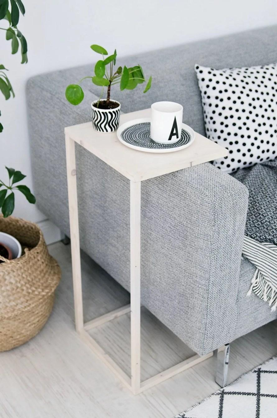 DIY side table sofa scandinavian
