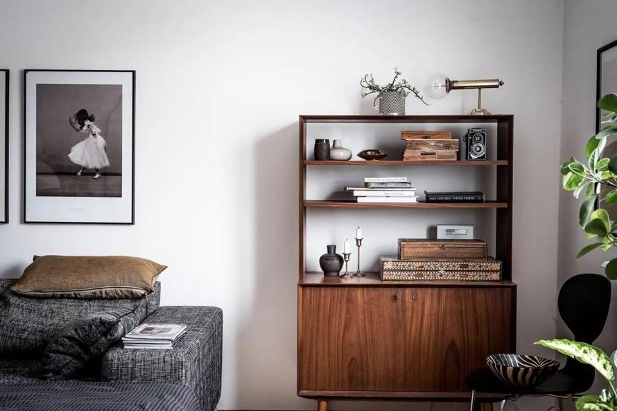 charming home sweden livingroom shelf