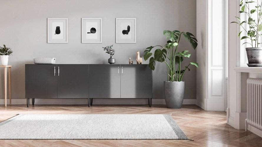 ikea norse cabinet scandinavian home grey