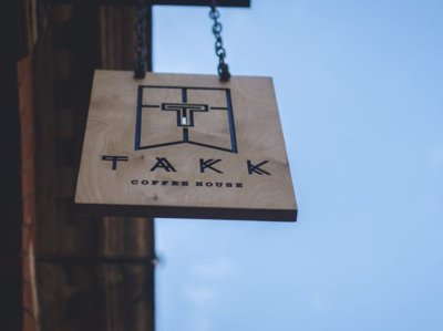 takk cafe coffee nordic sign