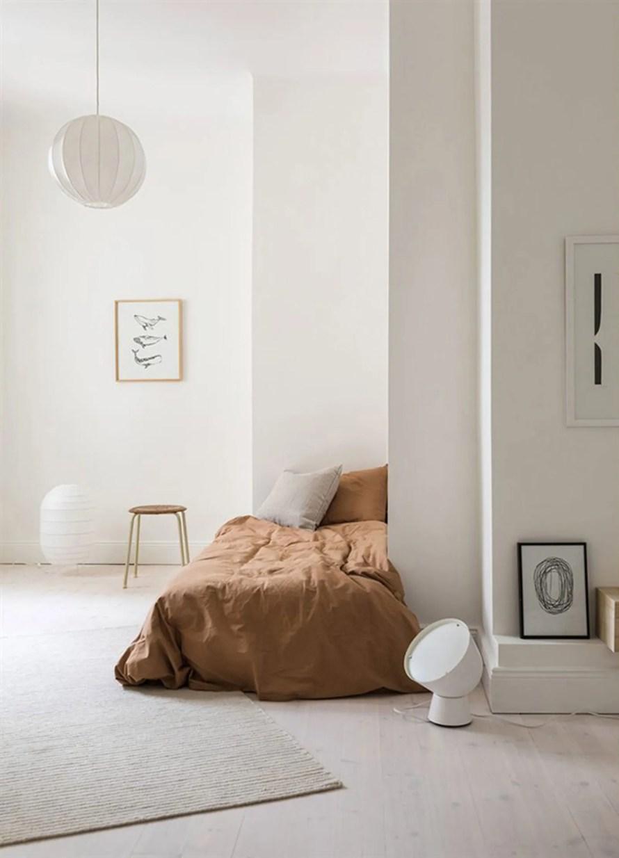 corner bed cozy interior