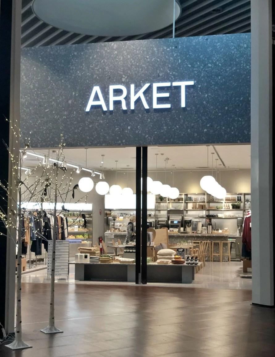 arket copenhagen airport cafe sign