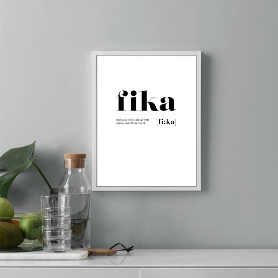 scandinavianfeeling coffee fika poster
