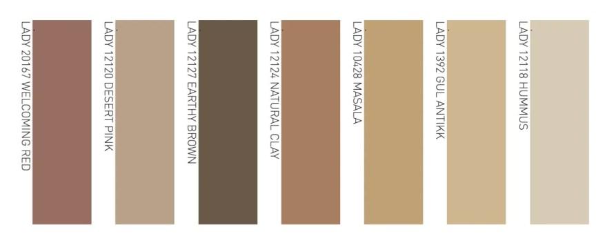 scandinavian colour trend 2021 warm rustic tones