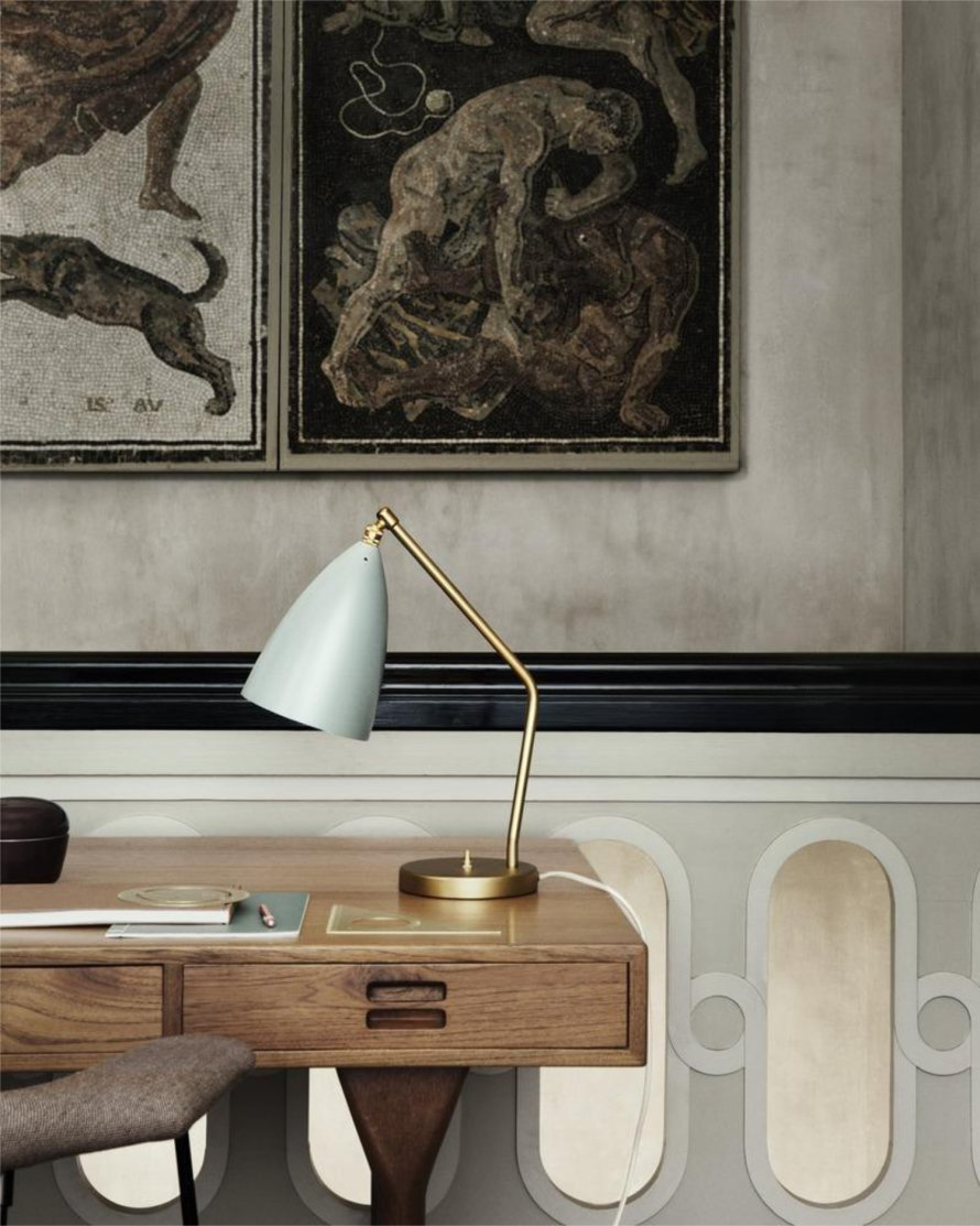 scandinavian feeling lamp table grasshopper gubi
