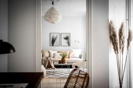Cozy Scandinavian livingroom with soft tones