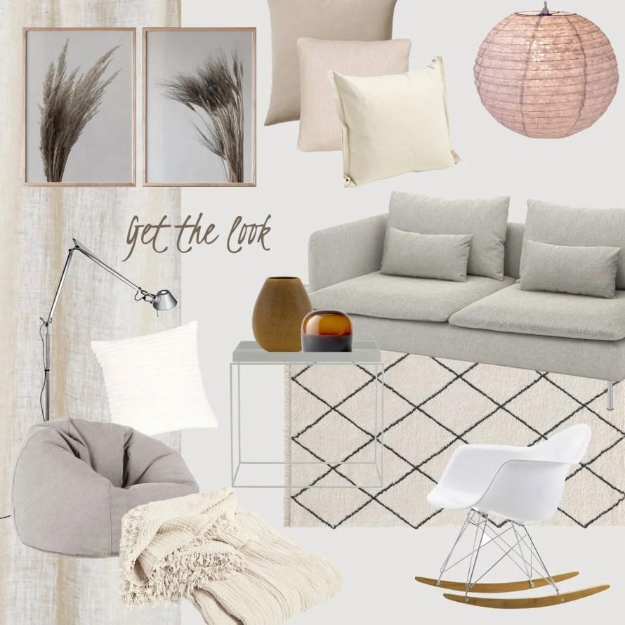 cozy scandinavian interior livingroom