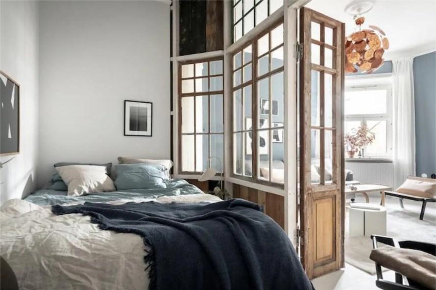 scandinavian feeling bedroom cozy wood 2