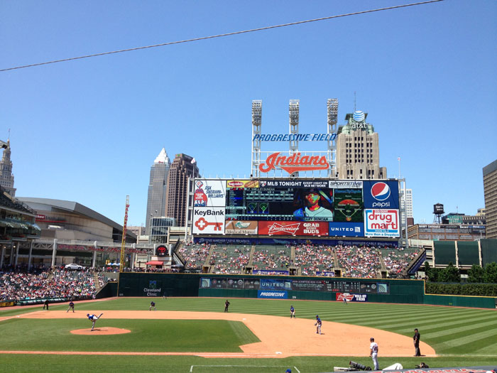 Progressive Field In The Summer