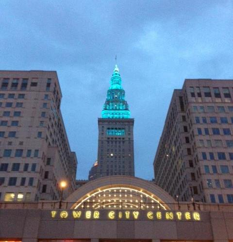 Terminal Tower In Teal
