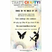 That's Crafty! Clear Stamp Set - Lynne's Affirmations - Set 5
