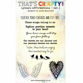 That's Crafty! Clear Stamp Set - Lynne's Affirmations - Set 3