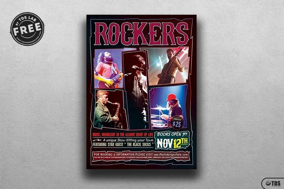 rock concert free flyer thatsdesign store