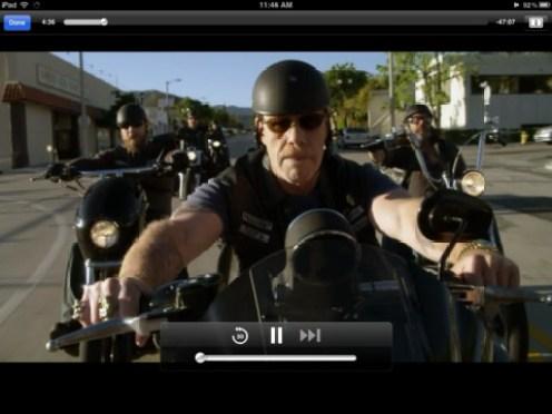 Amazon Instant Video iPad App - Movie Playing