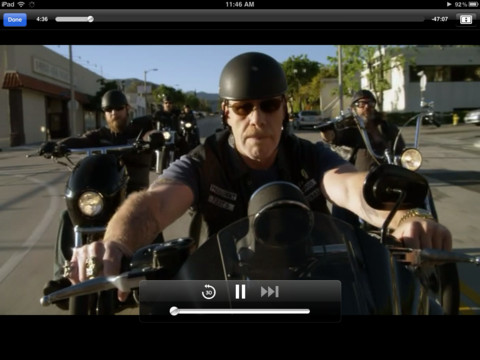 Amazon Instant Video iPad App - Movie Playing