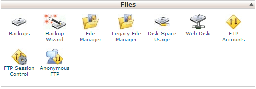Click on File Manager under Files in cPanel