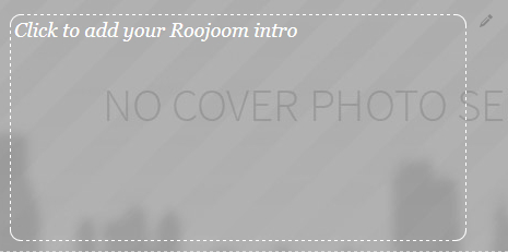 Click to add your Roojoom intro