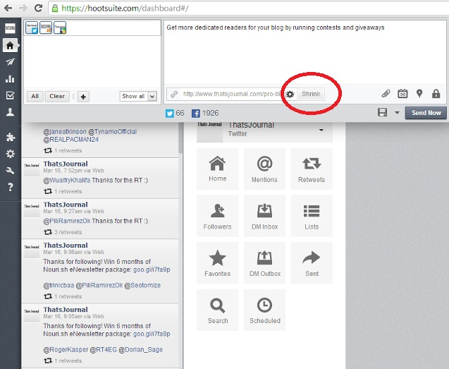 Add a Link in your message in HootSuite