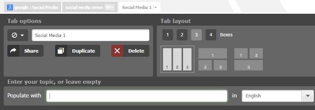 Add, delete and rearrange tabs in NetVibes