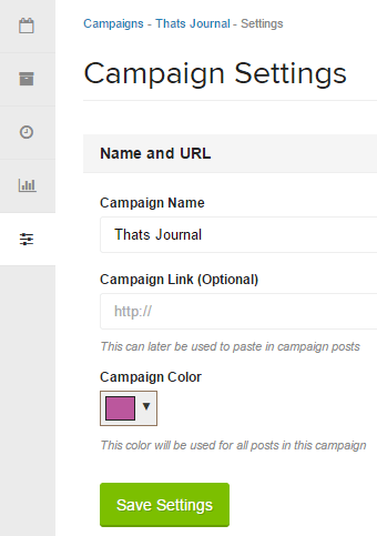 Change campaign settings in Oktopost