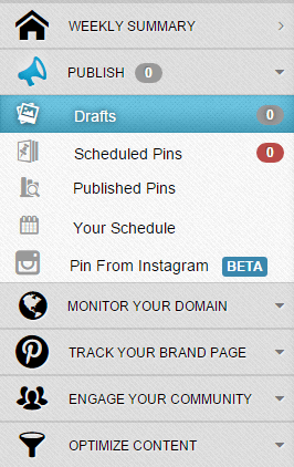 Click on Publish, Drafts in your Tailwind dasboard