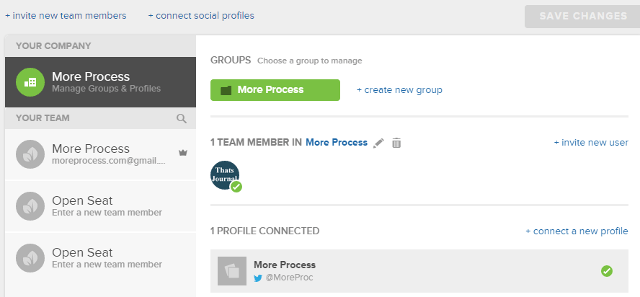 Click on create new group in Sprout Social