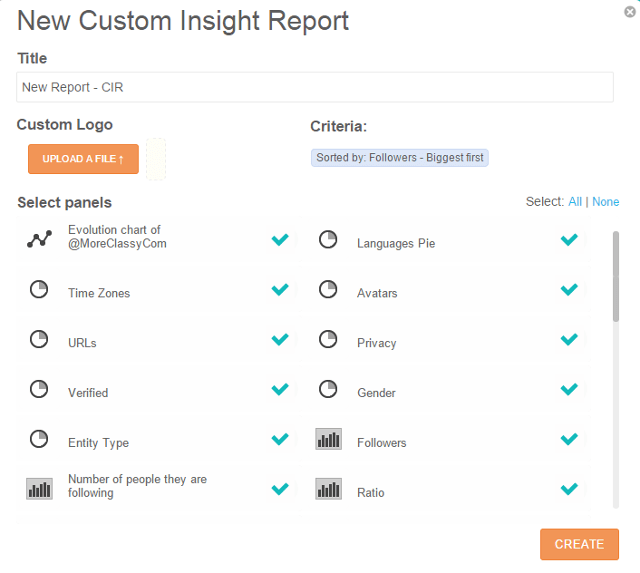 Create Community insights report in SocialBro