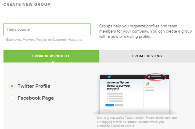 Create a social media accounts group in Sprout Social