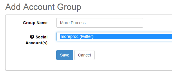 Create groups for social networking accounts in SocialOomph