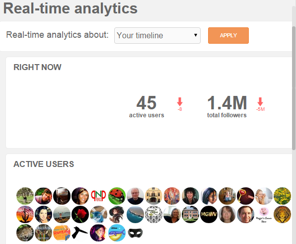 Real-time Twitter analytics in SocialBro