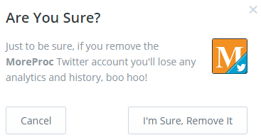 Remove a social media account from Buffer