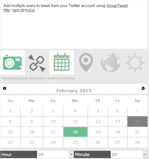 Schedule a tweet using ReachPod