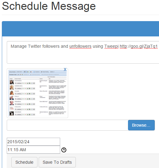 Schedule social media messages using SocioBoard