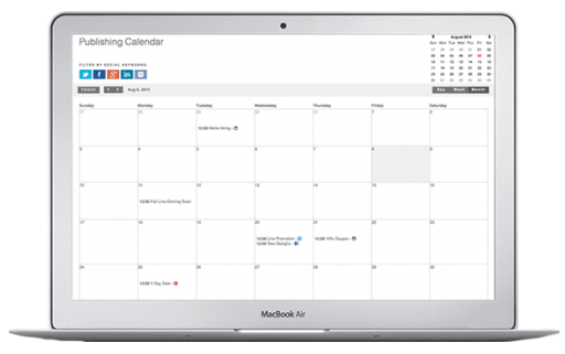 Schedule social media messages using calendar with Plumlytics