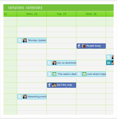 Schedule social media posts in calendar using Gremln