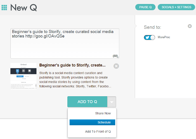 Schedule tweets, create queue to post tweets using Dlvr.it