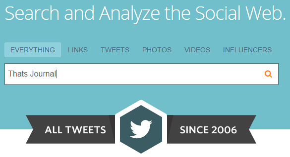 Search tweets in Topsy