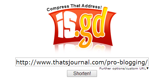Shorten long URL in is.gd