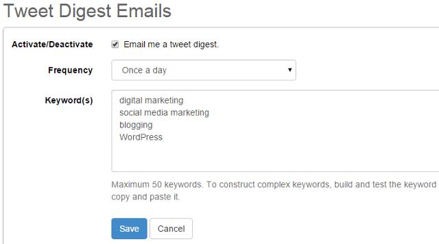 Tweet digest notification emails in SocialOomph