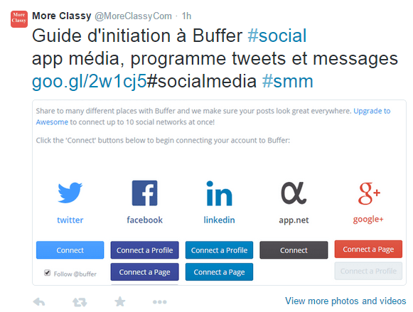 Tweet translated to French using Fliplingo
