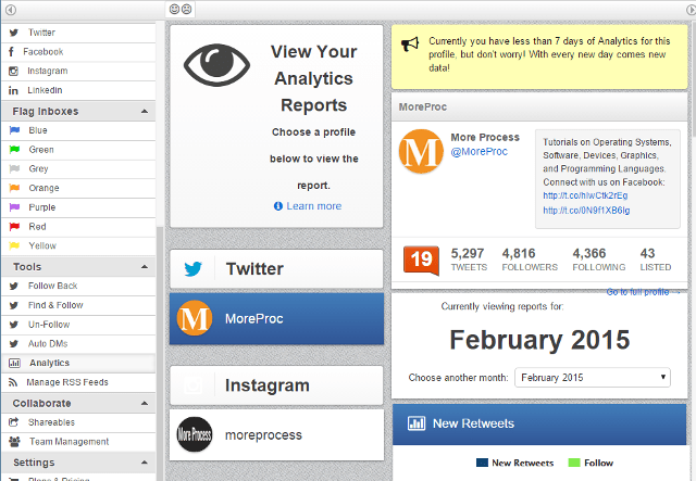 View social media analytics reports in MarketMeSuite