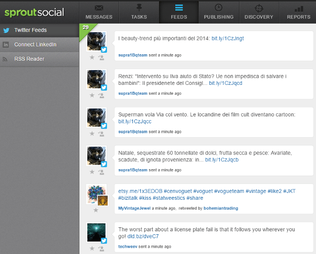 View social media feeds in Sprout Social
