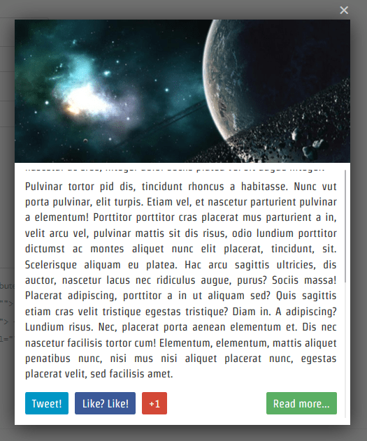 Display Posts, Page Of WordPress Blog In jQuery Lightbox
