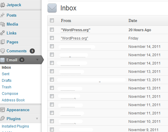 How To Access Emails Directly From WordPress Dashboard