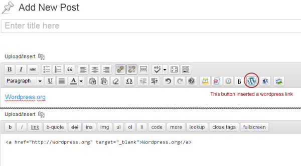 Add Custom Buttons In Posts Visual, Text Editor In WordPress
