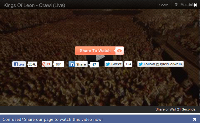 Overlay Social Sharing Buttons In YouTube Videos In WordPress