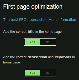 Title, meta description settings in SEO plugin by Squirrly